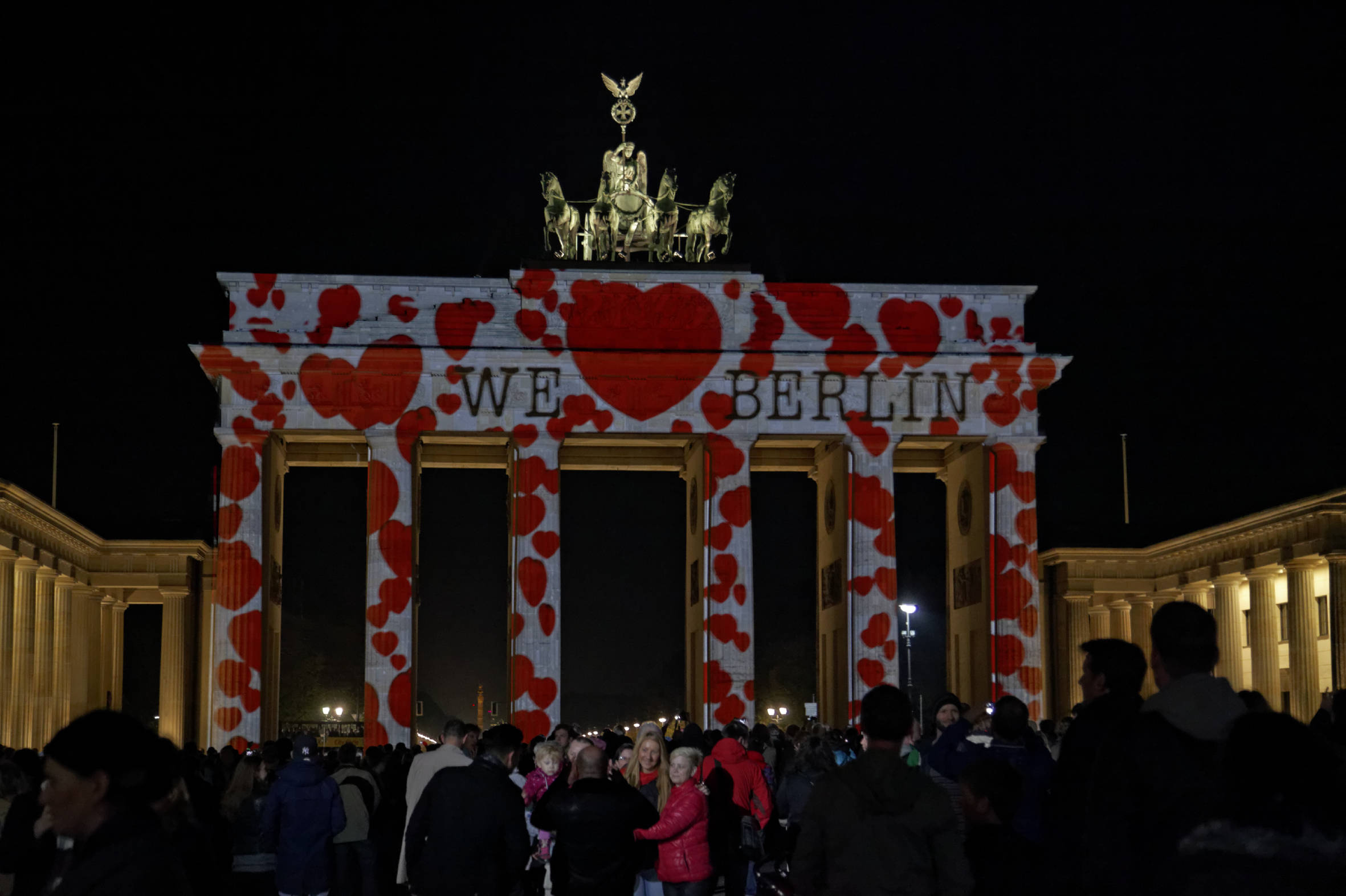 Beleuchtetes Brandenburger Tor